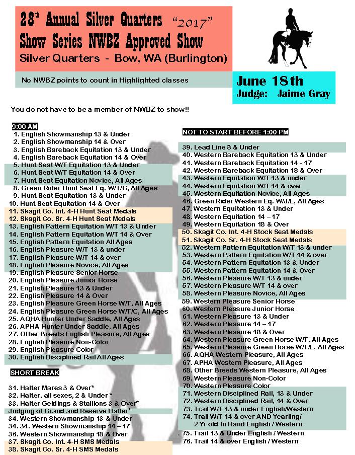 Silver Quarters NWBZ Show @ Silver Quarters | Bow | Washington | United States