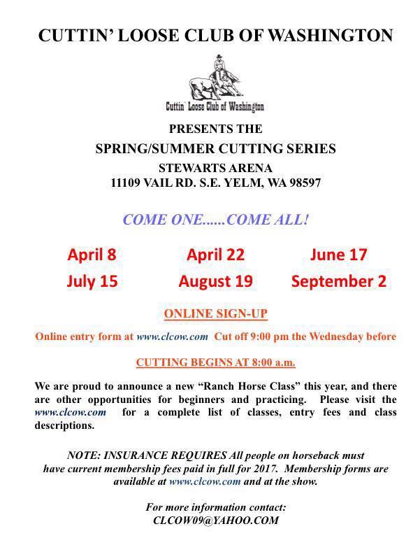 Spring/Summer Cutting Series @ Stewarts Arena | Yelm | Washington | United States