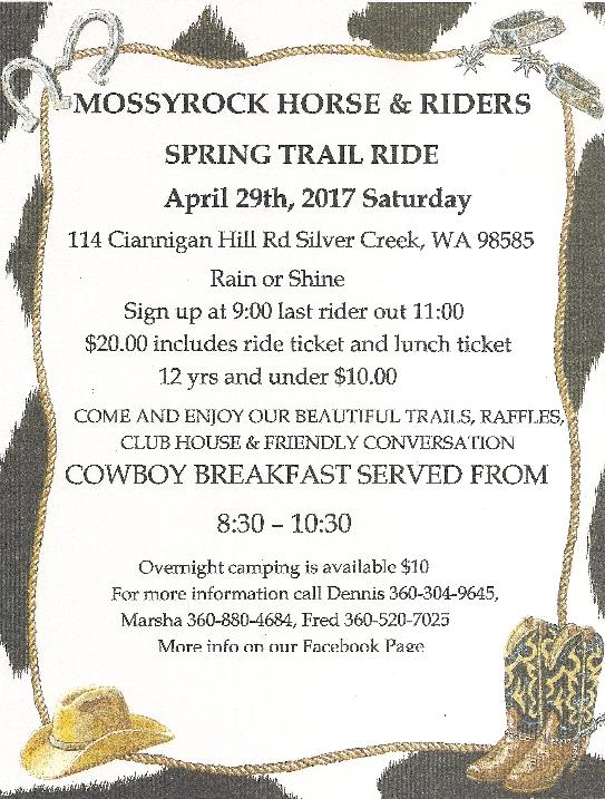 Mossyrock Horse & Riders Spring Ride @ Silver Creek | Washington | United States
