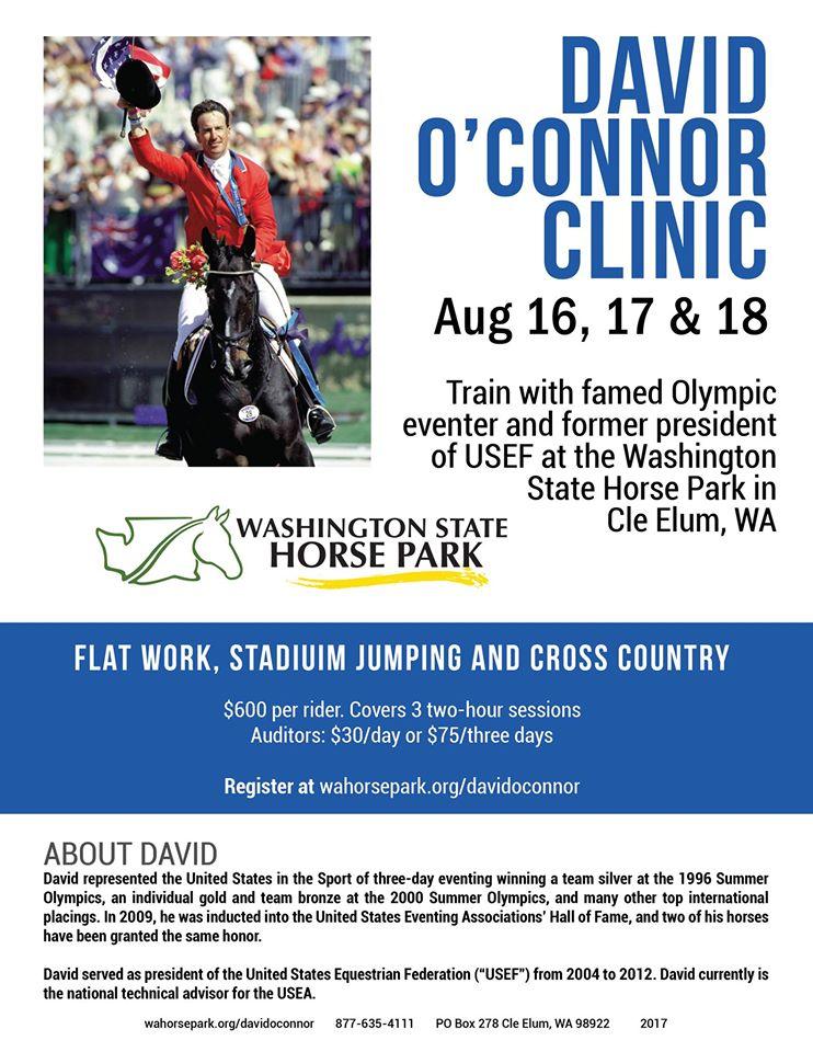 David O'Connor Clinic @ Washington State Horse Park | Cle Elum | Washington | United States