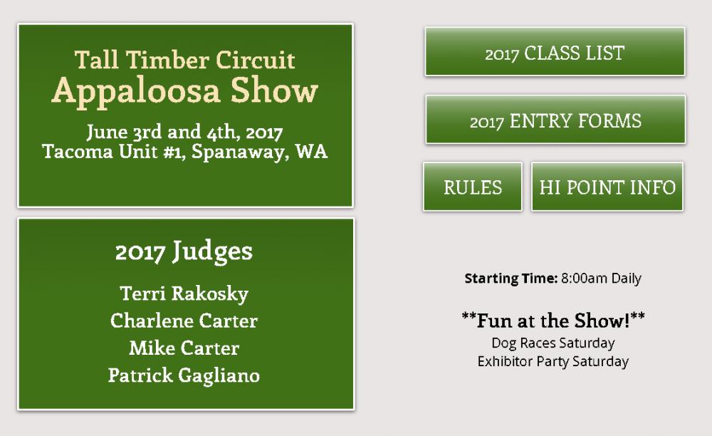 Tall Timber Circuit @ Tacoma Unit 1 Horseman's Arena | Spanaway | Washington | United States
