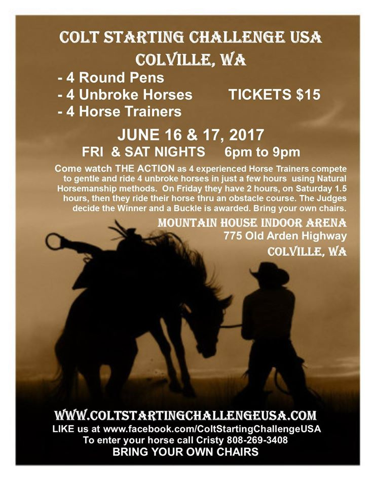 Colt Starting Challenge @ Mountain House Indoor Arena | Colville | Washington | United States