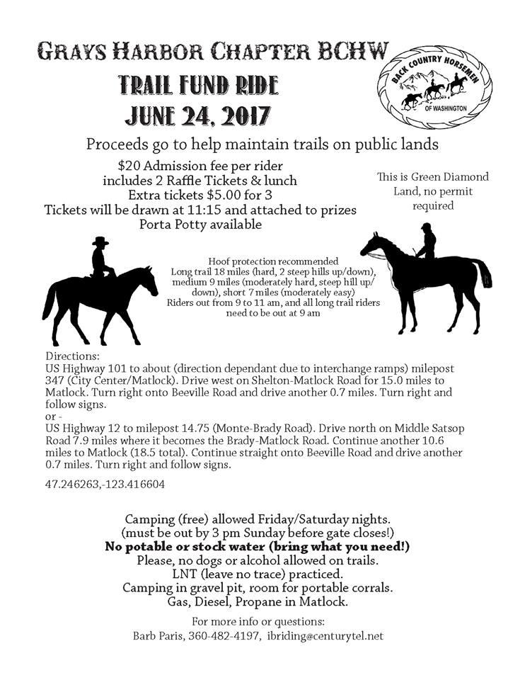Trail Fund Ride @ Matlock | Washington | United States
