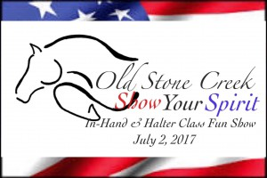 Halter & In-Hand Fun Show @ Old Stone Creek | Reardan | Washington | United States