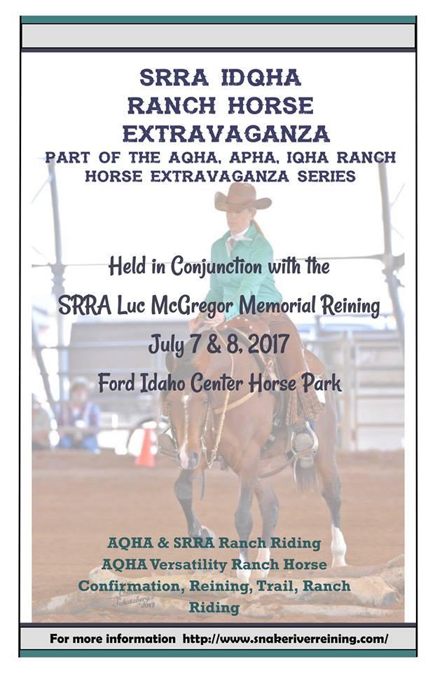 SRRA IDQHA Ranch Horse Extravaganza @ Ford Idaho Horse Park | Nampa | Idaho | United States