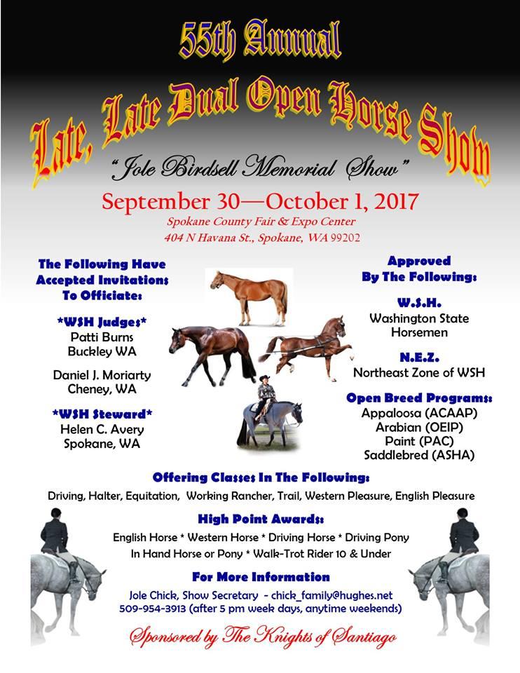 Late, Late Dual Open Show @ Spokane County Fair & Expo Center   Spokane Valley   Washington   United States