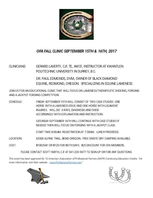 OFA Fall Clinic @ Bend | Oregon | United States