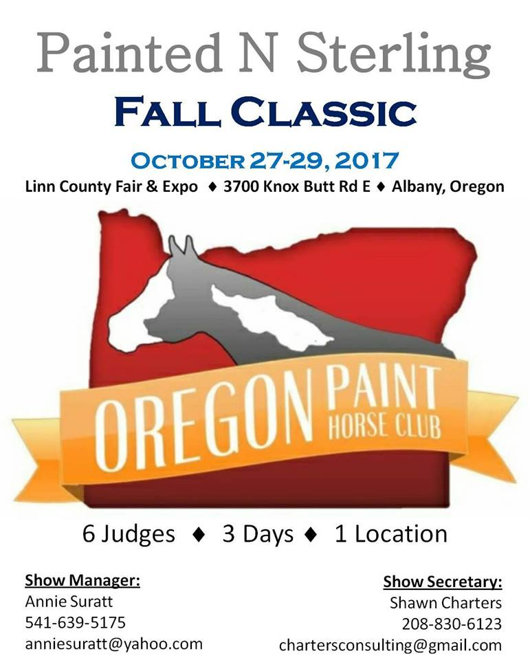 Painted N Sterling Fall Classic @ Linn County Fair & Expo | Albany | Oregon | United States