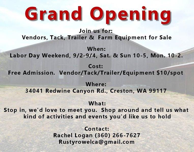 Tack Sale - Open House @ Creston | Washington | United States