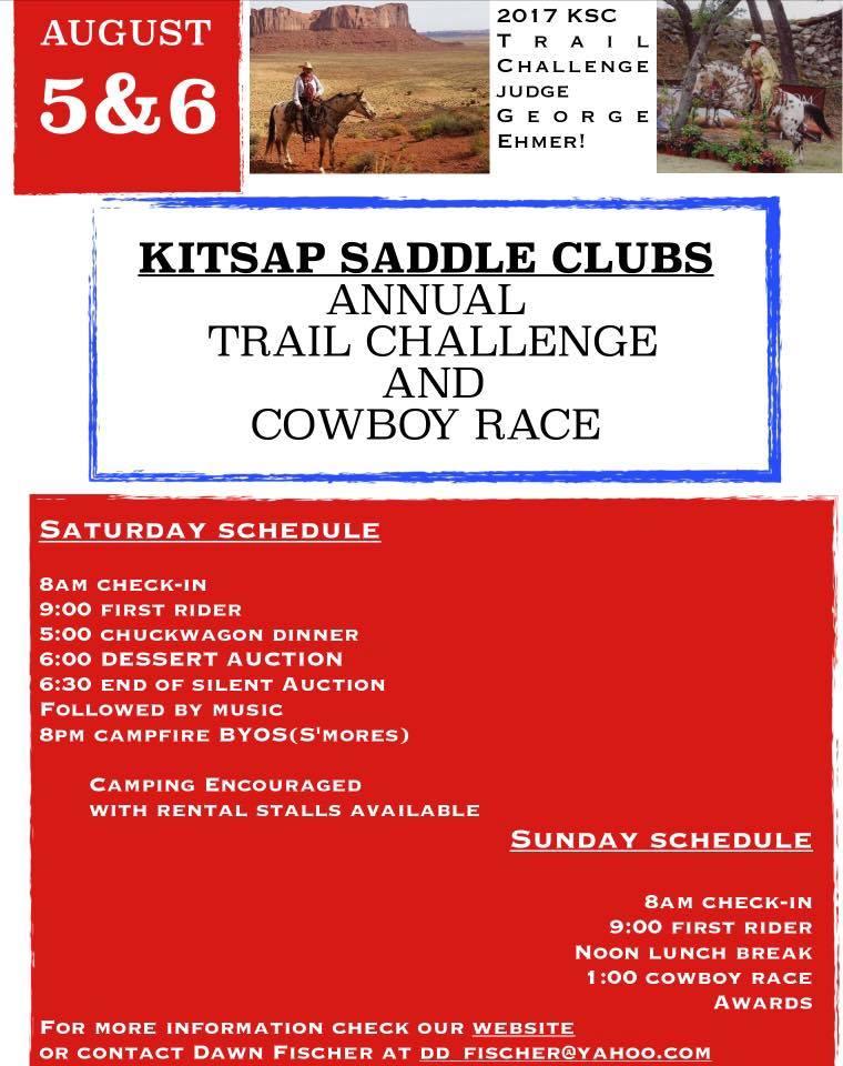 Kitsap Saddle Club Trail Challenge & Cowboy Race @ The Kitsap Saddle Club | Port Orchard | Washington | United States