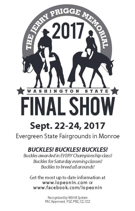 Jerry Prigge Memorial Show @ Evergreen State Equestrian Park | Monroe | Washington | United States