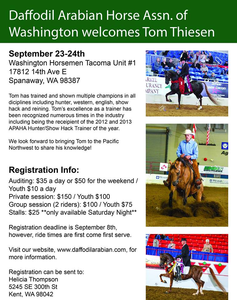 Tom Thiesen Clinic @ Tacoma Unit 1 Washington Horsemen | Spanaway | Washington | United States