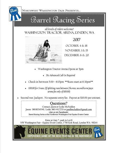 Barrel Racing Series @ Washington Tractor Arena | Lynden | Washington | United States