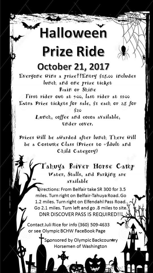 Halloween Prize Ride @ Tahuya River Horse Camp | Belfair | Washington | United States