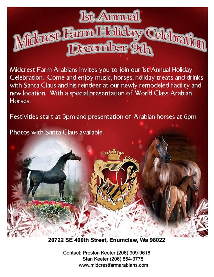 1st Annual Midcrest Farm Holiday Celebration @ Midcrest Arabians | Enumclaw | Washington | United States