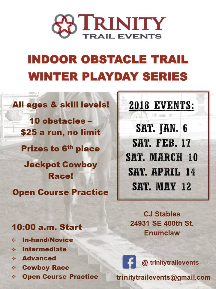 Obstacle Trail Winter Playday Series @ CJ Stables | Enumclaw | Washington | United States