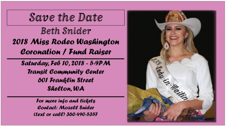 2018 Miss Rodeo Washington Coronation @ Transit Community Center | Shelton | Washington | United States