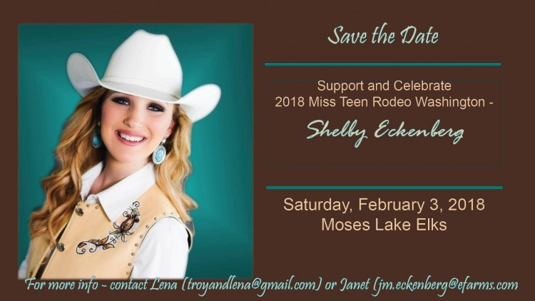 Celebrate 2018 Miss Teen Rodeo Washington @ Moses Lake Elks | Moses Lake | Washington | United States