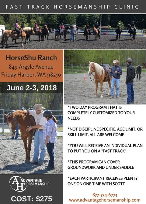 Fast Track Horsemanship Clinic @ HorseShu Ranch | Friday Harbor | Washington | United States