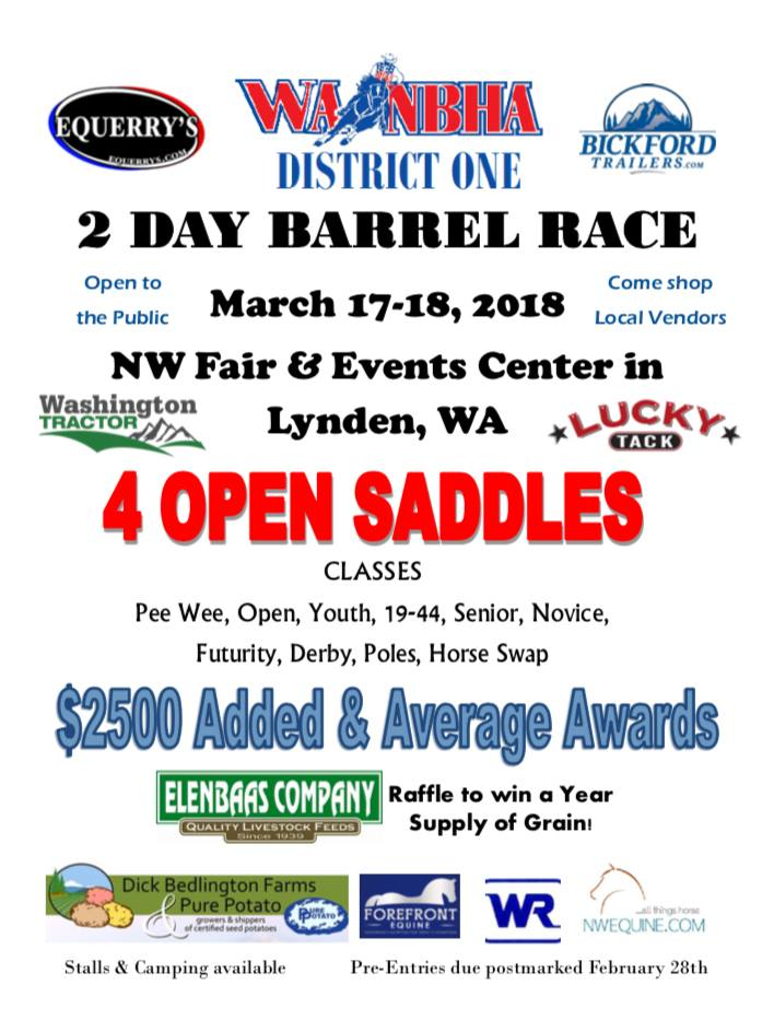 2 Day Barrel Race @ NW Fair & Events Center | Lynden | Washington | United States