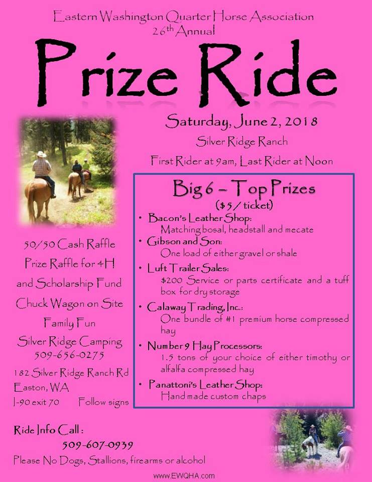 EWQHA Prize Ride @ Silver Ridge Ranch Bed & Breakfast / Campgrounds | Easton | Washington | United States