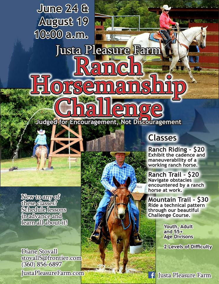 Ranch Horsemanship Challenges @ Justa Pleasure Farm | Sedro-Woolley | Washington | United States