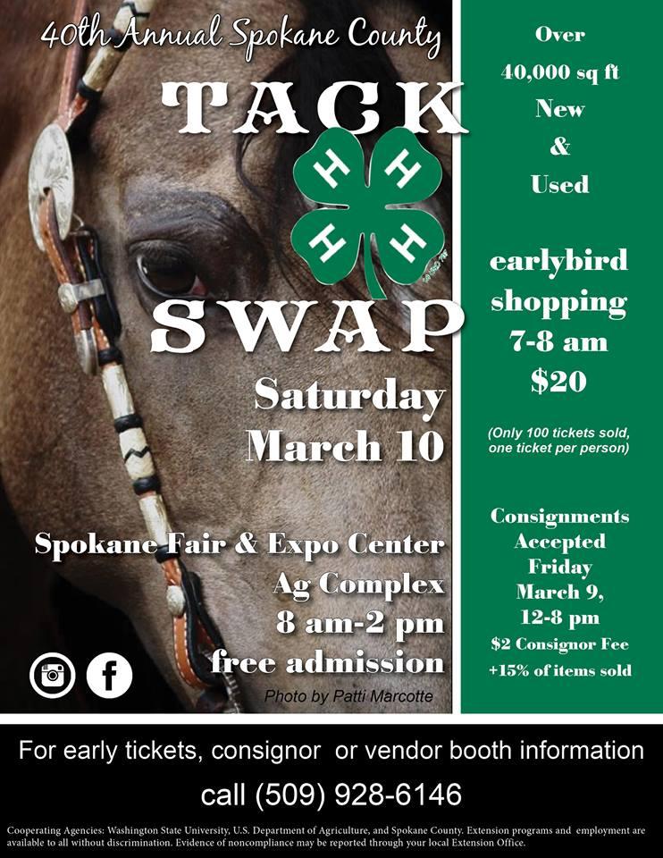 Spokane County Tack Swap @ Spokane Fair & Expo Center | Spokane | Washington | United States