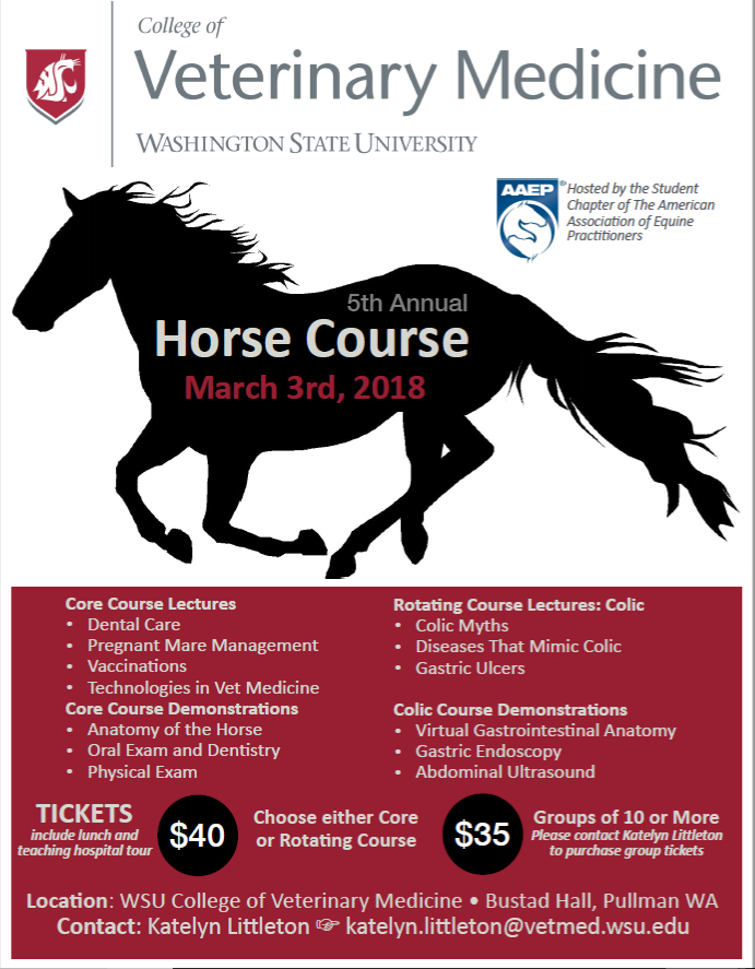 5th Annual Horse Course @ WSU College of Veterinary Medicine  | Pullman | Washington | United States