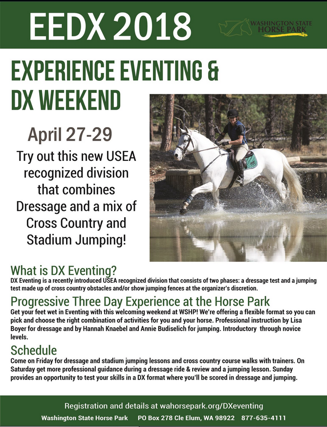 Experience Eventing & DX @ Washington State Horse Park | Cle Elum | Washington | United States