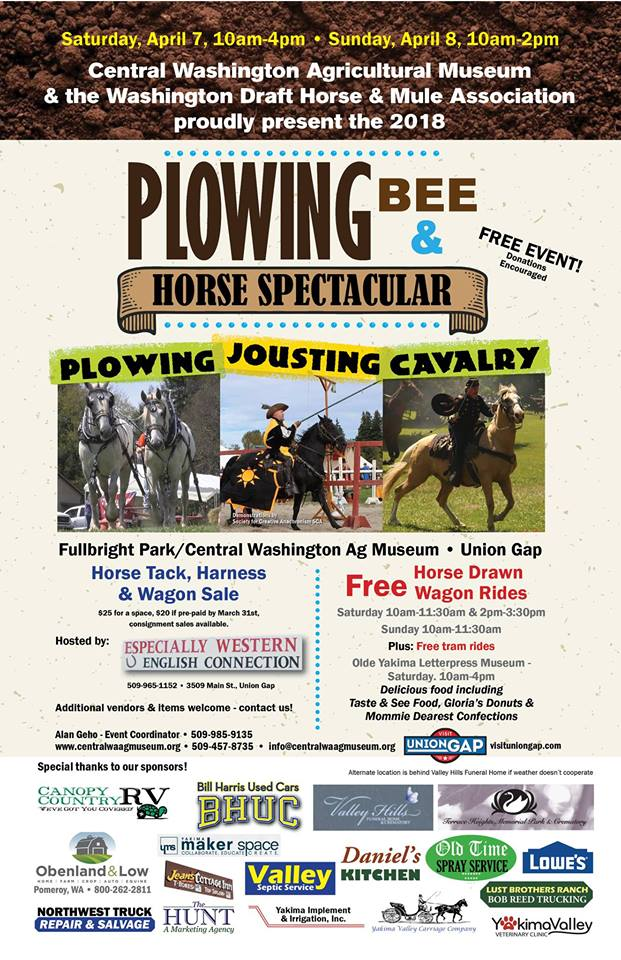 2nd Annual Plowing Bee with Harness and Tack Sale @ Central Washington Agricultural Museum | Union Gap | Washington | United States