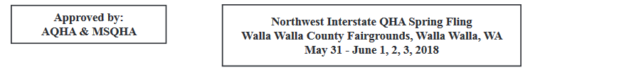 AQHA Spring Fling @ Walla Walla County Fairgrounds | Walla Walla | Washington | United States