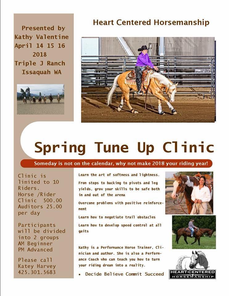 Spring Tune Up Clinic @ Triple J Ranch | Issaquah | Washington | United States