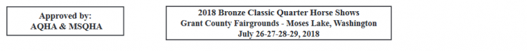 AQHA & MSQHA Bronze Classic @ Grant County Fairgrounds | Moses Lake | Washington | United States