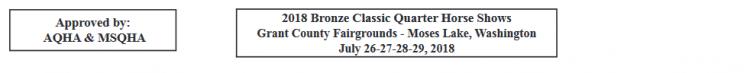 AQHA & MSQHA Bronze Classic @ Grant County Fairgrounds | Moses Lake | Washington | United States