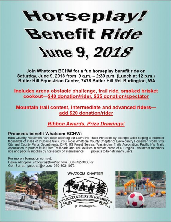 Whatcom BCHW Horseplay Benefit Ride @ Butlerhill Equestrian Center | Burlington | Washington | United States