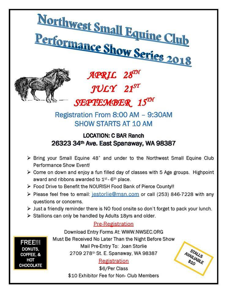 Northwest Small Equine Performance Show @ C Bar Ranch | Spanaway | Washington | United States