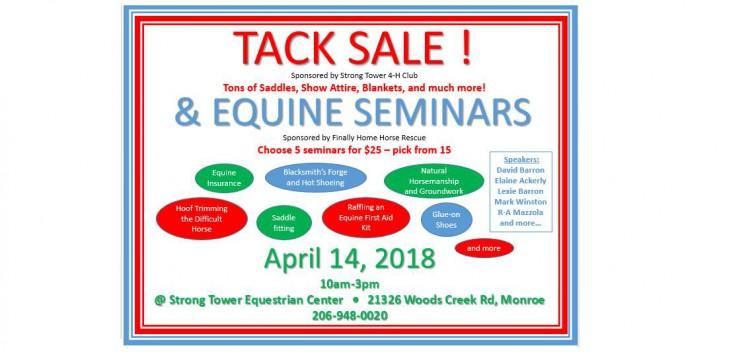 Tack Sale & Equine Seminars @ Finally Home Horse Rescue | Monroe | Washington | United States