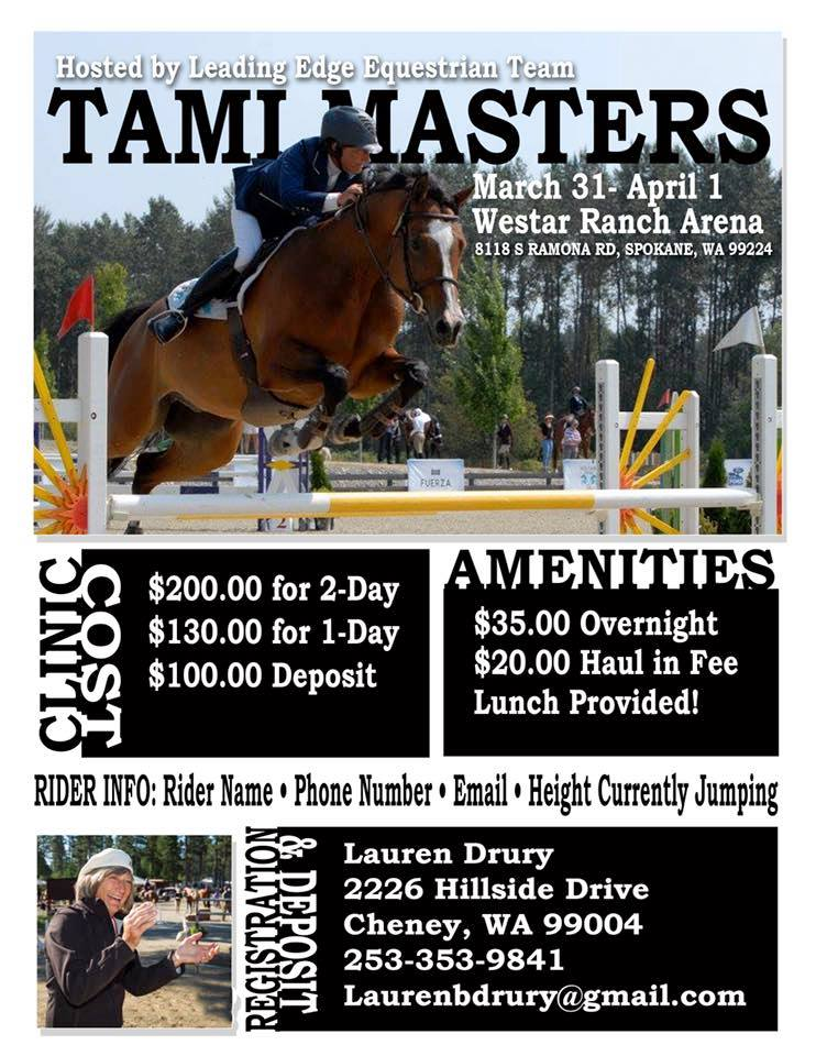 Tami Masters Clinic @ Westar Ranch Arena | Spokane | Washington | United States