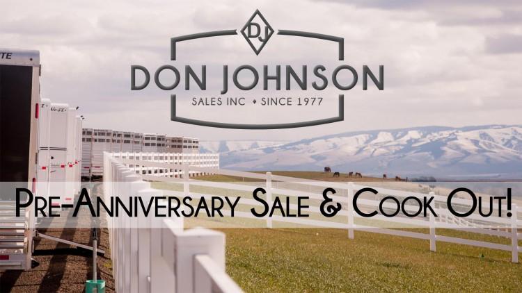 DJ Pre-Anniversary Sale & Benefit @ Don Johnson Sales, Inc. | Walla Walla | Washington | United States