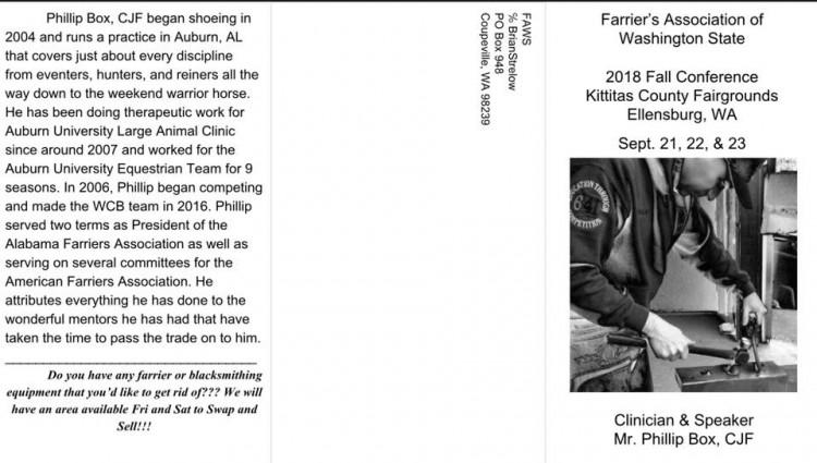 Farrier's Assoc. of WA Fall Conference @ Kittitas County Fairgrounds | Ellensburg | Washington | United States