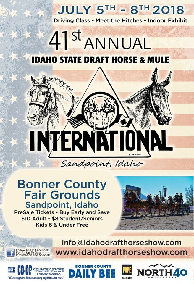 41st Annual Idaho State Draft & Mule International @ Bonner County Fair Grounds | Sandpoint | Idaho | United States