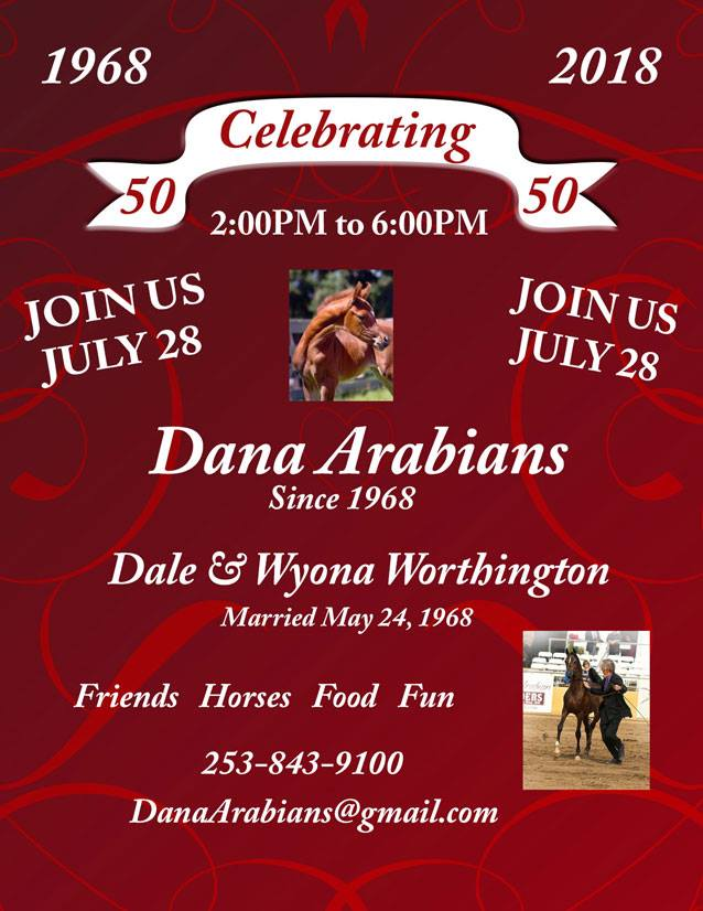 50th Anniversary Celebration @ Dana Arabians | Roy | Washington | United States