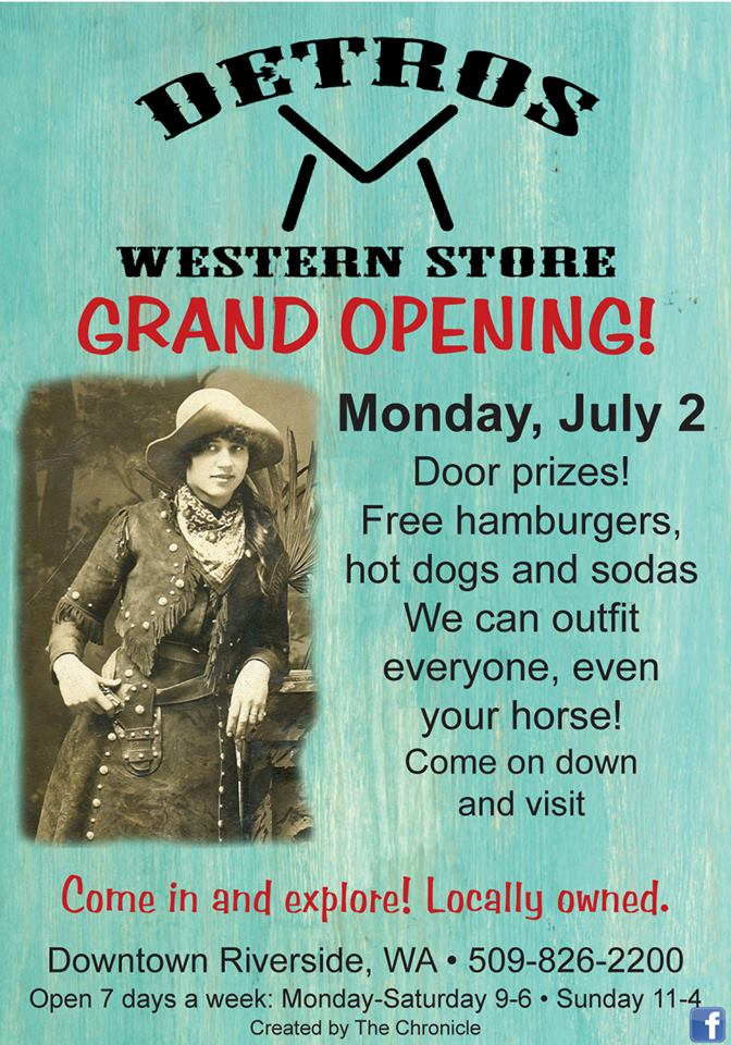 Western Store Grand Opening @ Detros Western Store | Riverside | Washington | United States