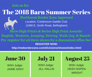 """The Barn"" Summer Show Series @ Creidmount Saddle Club 
