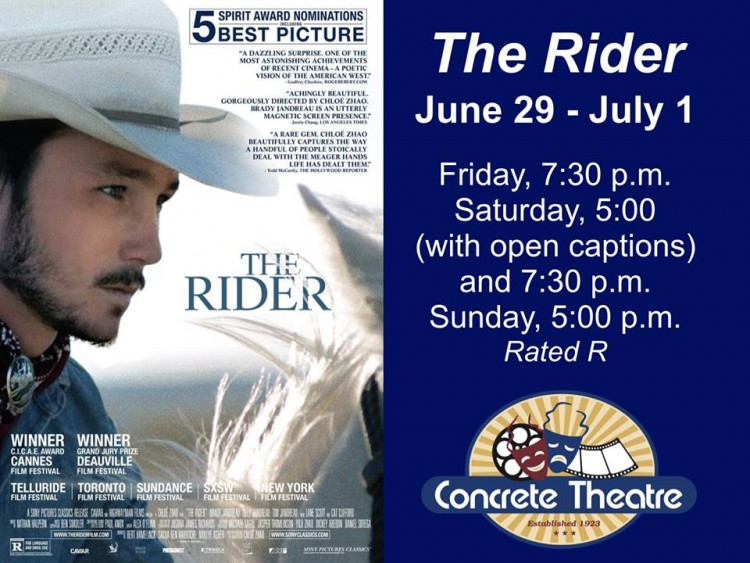 The Rider - Movie @ Concrete Theatre | Concrete | Washington | United States