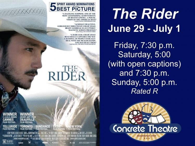 The Rider - Movie @ Concrete Theatre | Concrete | Washington | United States