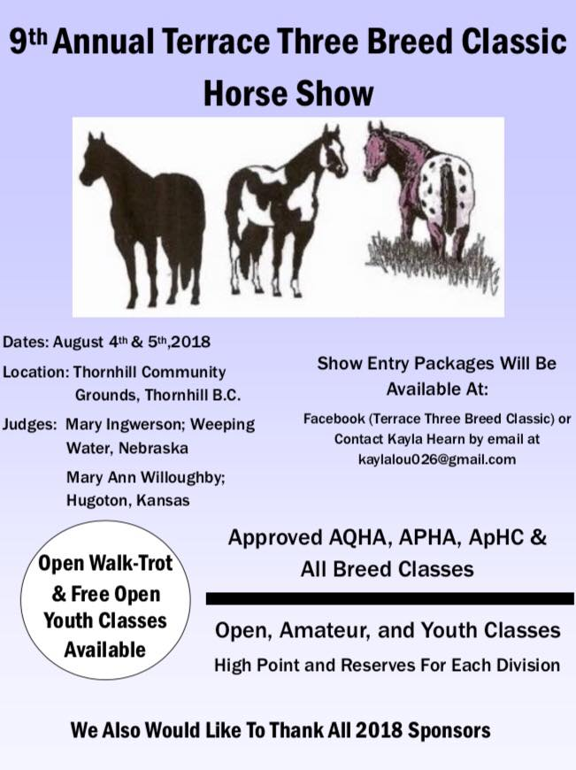9th Annual Terrance Three Breed Classic @ Thornhill Community Grounds | Terrace | British Columbia | Canada