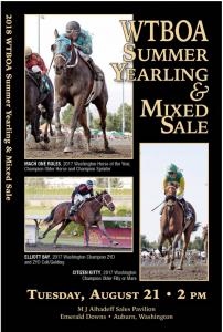 WTBOA Summer Yearling & Mixed Sale @ WTBOA Sales Pavilion | Auburn | Washington | United States