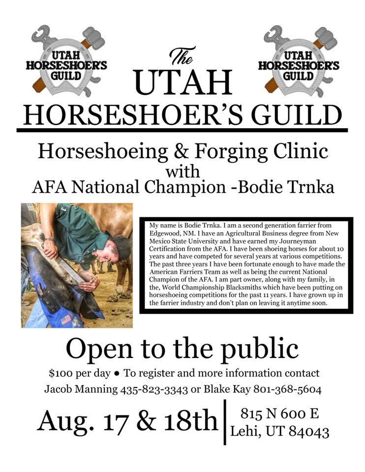 Horseshoeing & Forging Clinic @ Lehi | Utah | United States