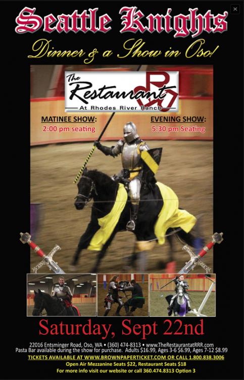 Seattle Knights Dinner & Show @ Rhodes River Ranch | Arlington | Washington | United States